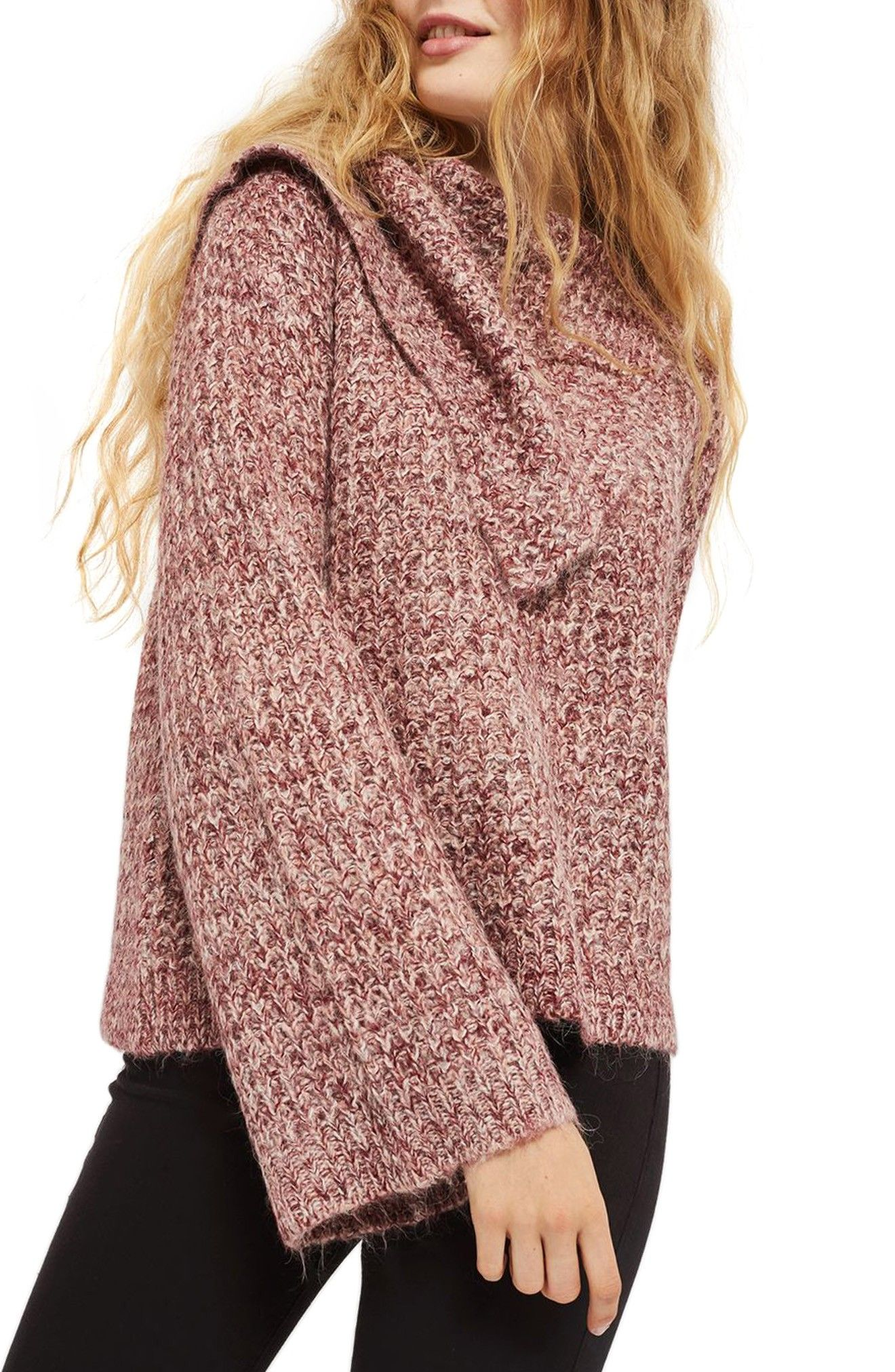An oversized envelope neck that drapes over one shoulder adds fashion-forward  style to this cozy bell-sleeve knit infused with wool and alpaca for an ... cc10746a4