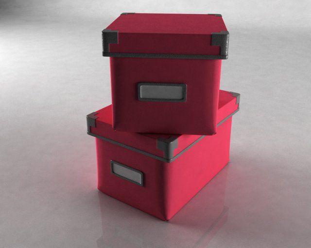 3D Model 2 Boxes c4d, obj, 3ds, fbx