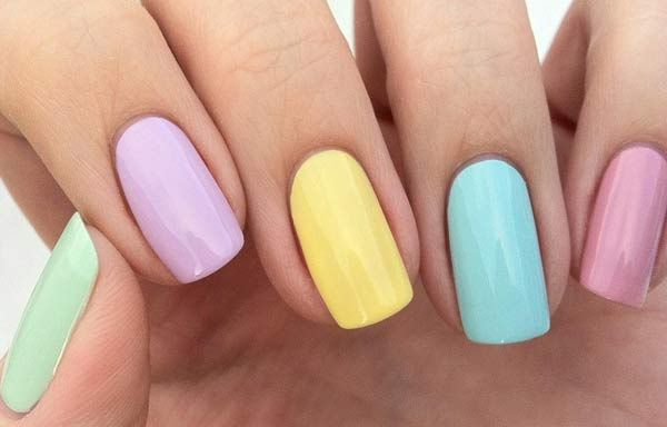Unas Decoradas Colores Pasteles Unas Nails Pastel Nails Y Nail Art