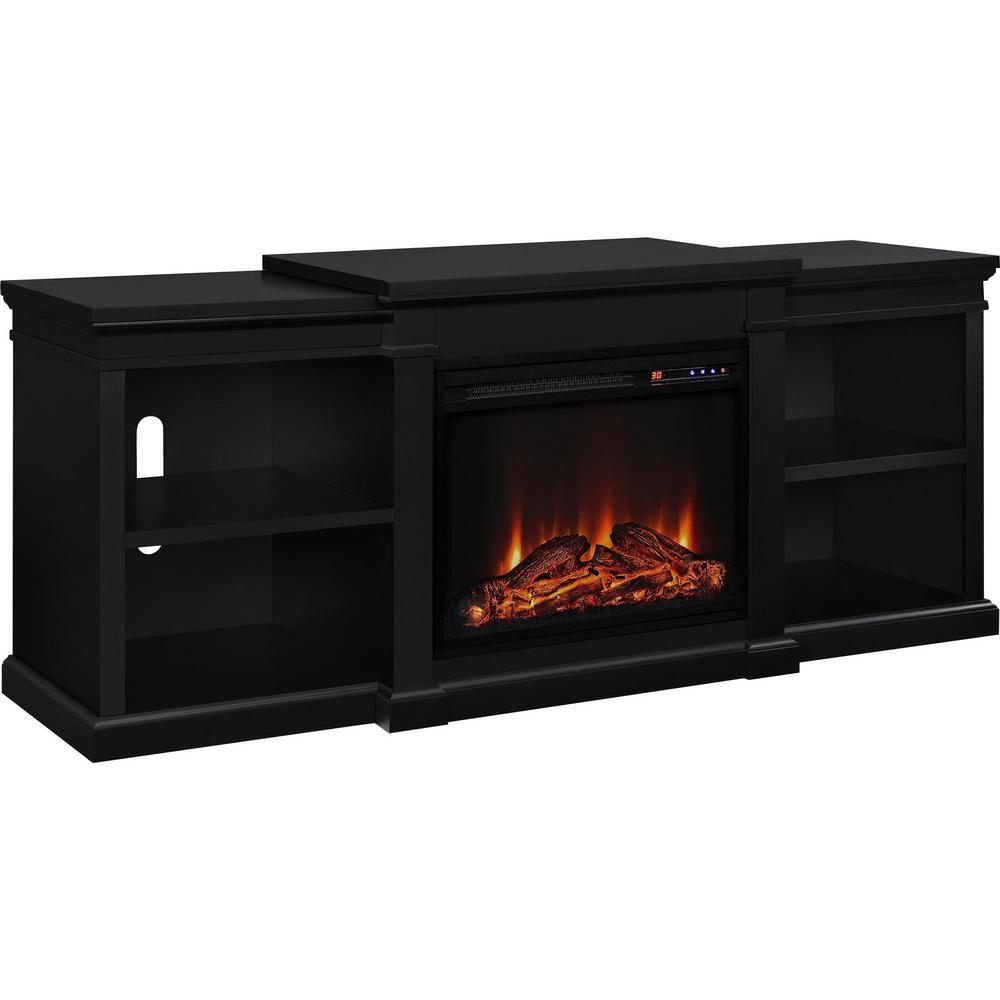 Ameriwood Paynes 70 In Black Tv Stand With Electric Fireplace Hd51754 The Home Depot Fireplace Tv Stand Fireplace Tv Electric Fireplace Tv Stand Black electric fireplace tv stand