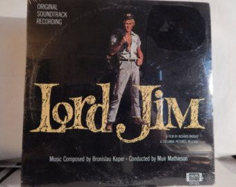 "LORD JIM (1965, Bronislau Kaper) Rare Mint 12"" Vinyl LP Soundtrack. Beautiful Cover Illustration of Peter O'Toole; very fine film score too - Edit Listing - Etsy"