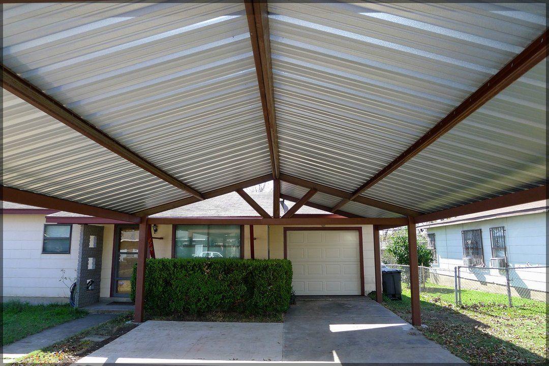 Steel Carport Pictures Dublin Job San Antonio Texas Carport Designs Patio Residential Roofing