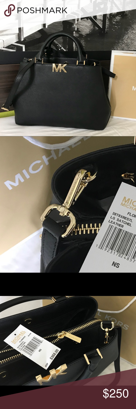 665909e666d8 $368 Michael Kors Florence Handbag Bag MK Purse 🔥⏳ LAST 1! ⏳🔥 Guaranteed