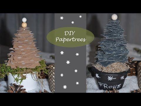 Diy Papertrees Tannenbaume Aus Geschenkpapier Weihnachtliche