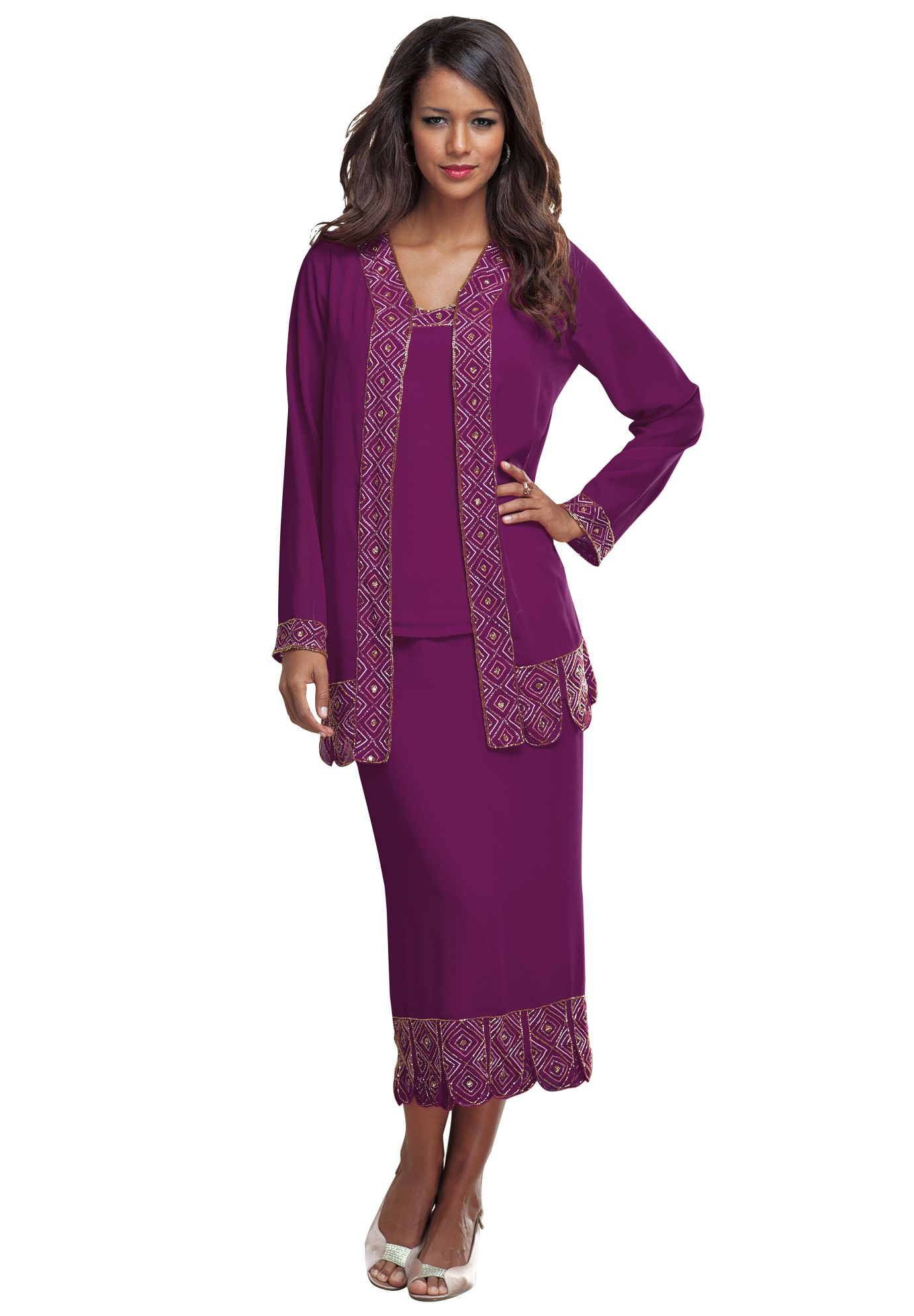 3-Piece Carwash Skirt Set   Plus Size Dresses and Suits   Roamans ...