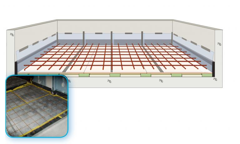 Acoustic Floating Floors Farrat Concrete Floating Floor System Floating Floor Flooring Sound Insulation