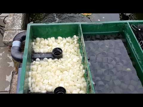 Koi pond box filter setup and a murky pond youtube for Koi pond filter setup