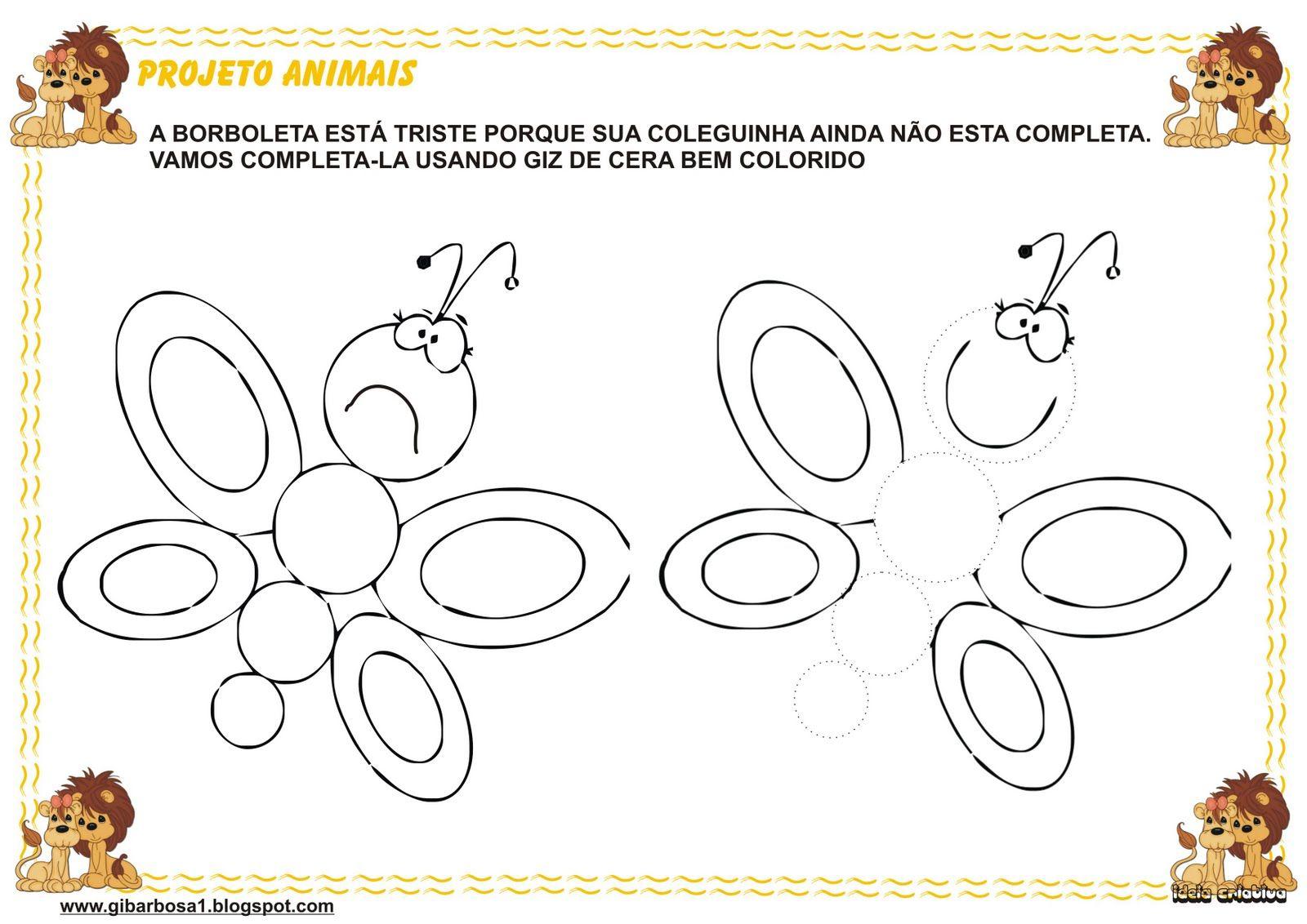 Atividades Borboletas Educacao Infantil Pesquisa Google Com