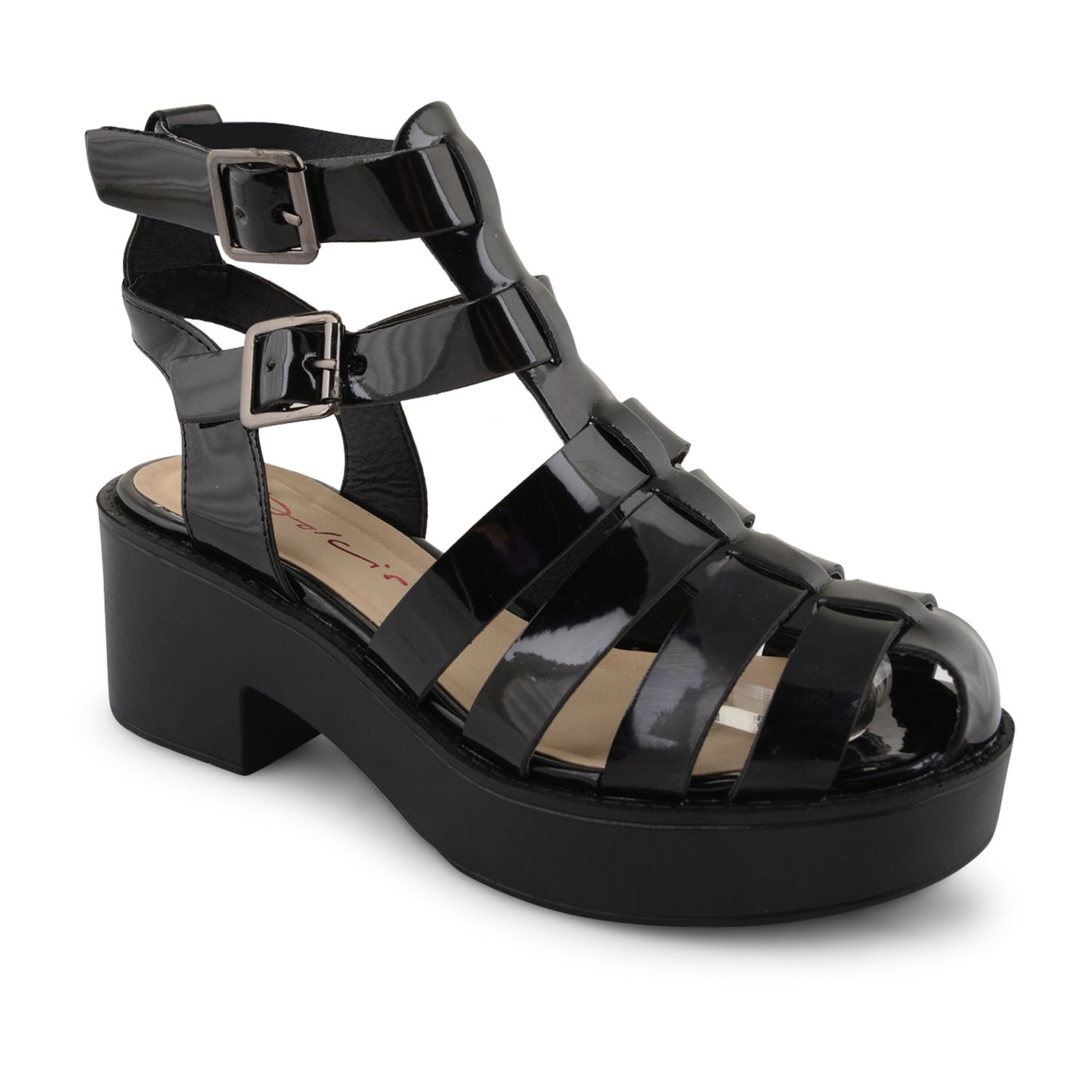 3b1ae17fd6d NEW-LADIES-DOLCIS-ANKLE-STRAPPY-SANDALS-WOMENS-CUT-OUT-PLATFORM ...