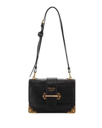 Prada Glace Cahier Small Calf Shoulder Bag 3q8XQjef