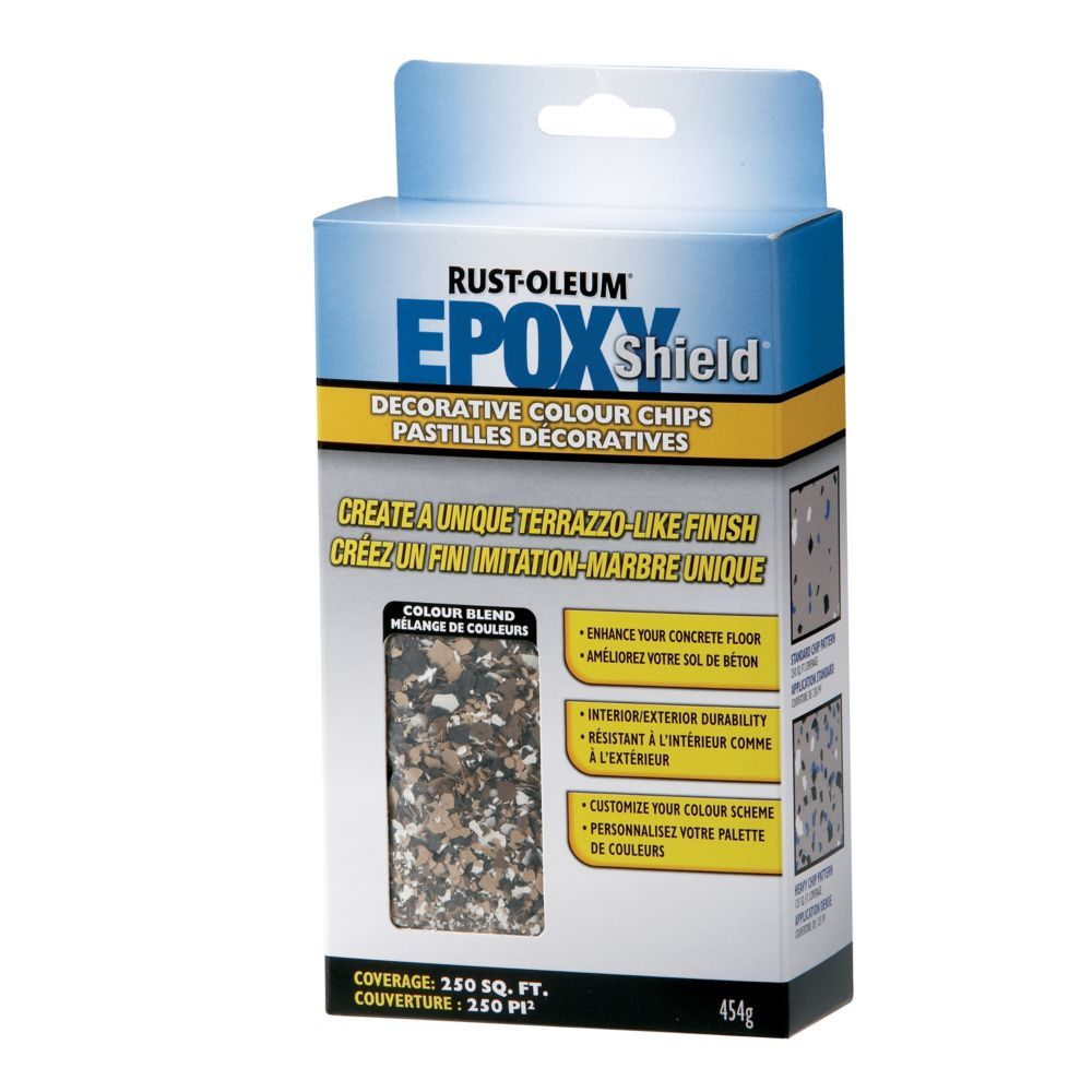 Epoxy Shield Chips Tan Home depot, Flooring, Painted floors
