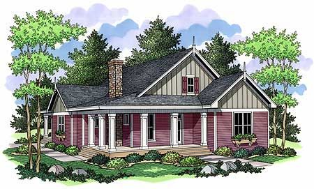 Plan 14306rk Rustic Tones And A Wrap Around Porch Country Style House Plans Farmhouse Style House Farmhouse Style House Plans