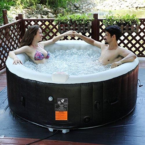 Goplus 4 Person Portable Inflatable Hot Tub For Outdoor Jets Bubble Ma Exceptional Findz Spa Gonflable Massage Spa Spa