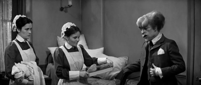 John Hurt, Lesley Dunlop (that's my mum, that is) , Nula Conwell, nursing The Elephant Man