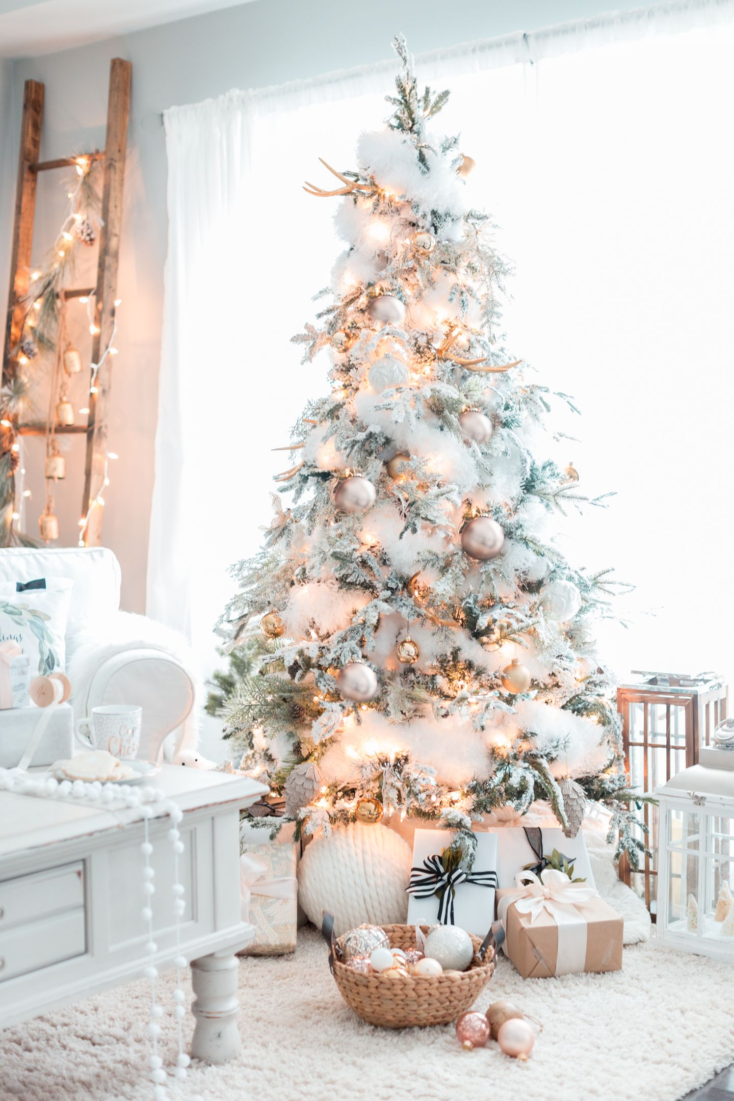 Make Your Home A Winter Wonderland Just In Time For The Festive Season With Help F White Christmas Decor White Christmas Tree Decorations White Christmas Trees