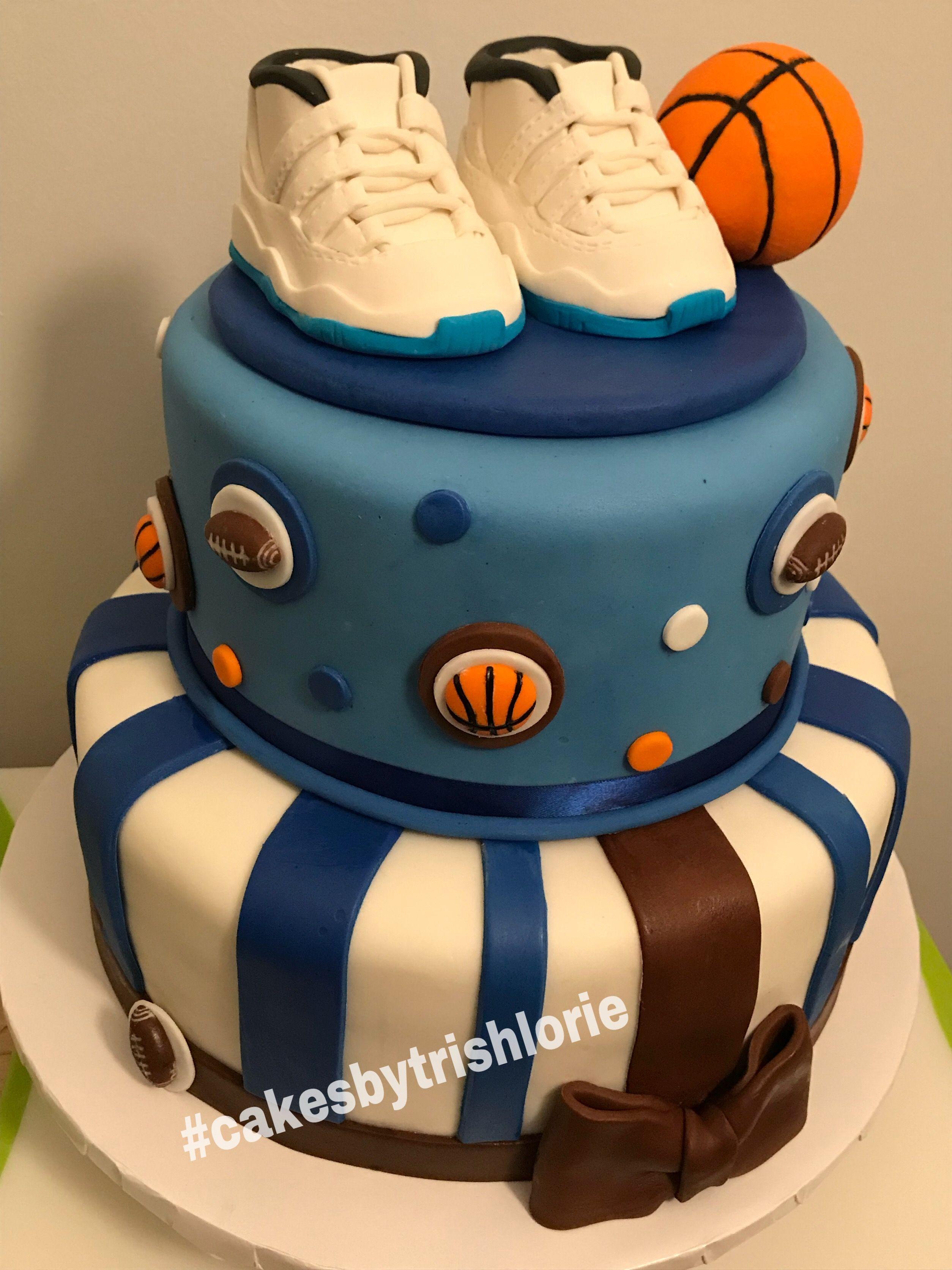 Baby Shower Cake Jordan Theme Sports With Images Jordan Cake
