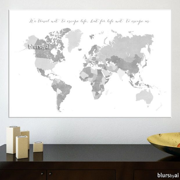 36x24 printable world map with countries and names distressed printable world map with countries and names distressed vintage grayscale world map black white diy travel pinboard map 138 h gumiabroncs