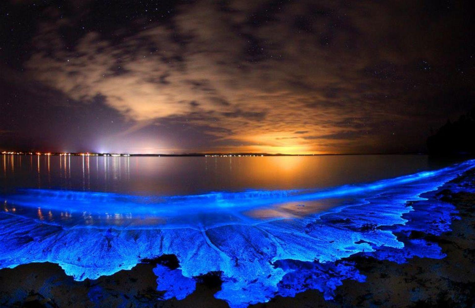 Maldives Glowing Beach