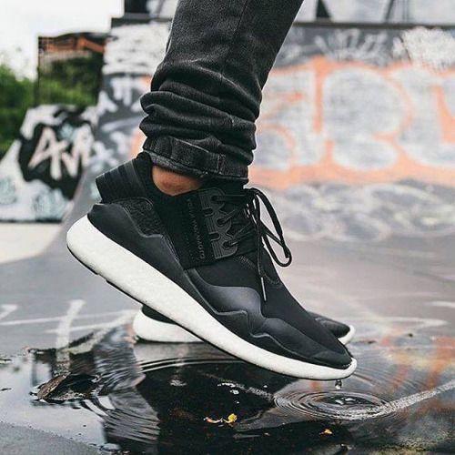 bf58866b4f672 y3 retro boost black on feet - Google Search