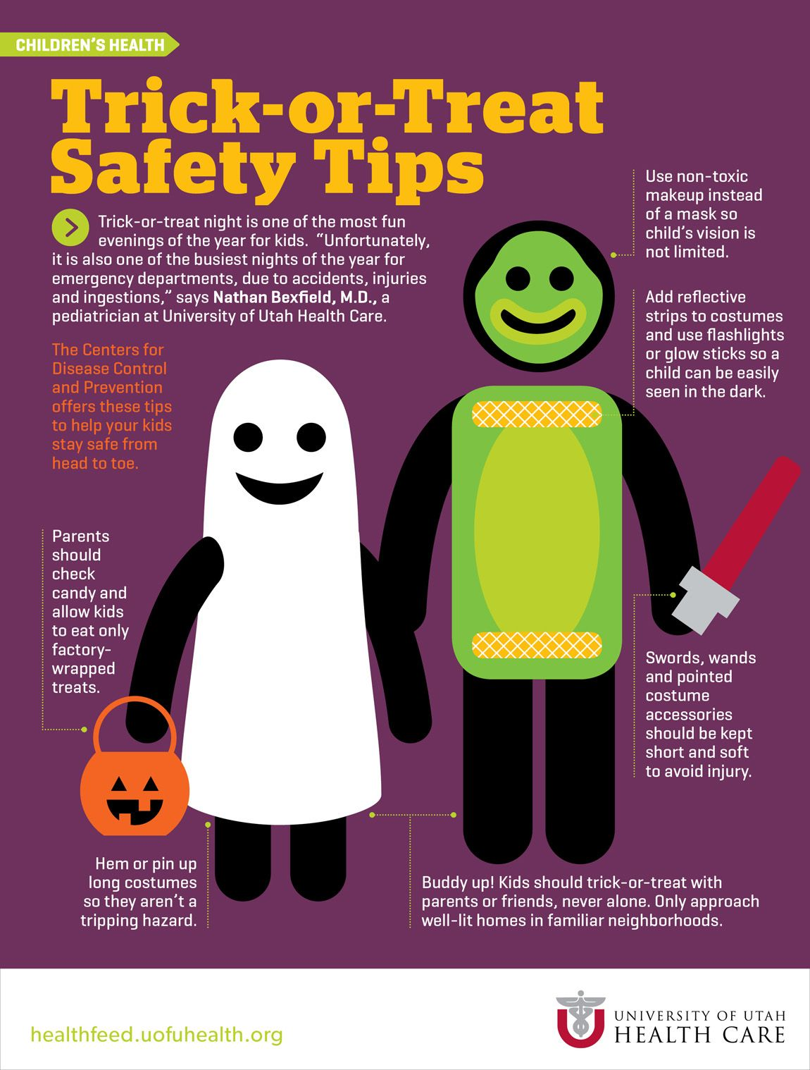 Halloween TrickorTreat Safety Tips Infographic