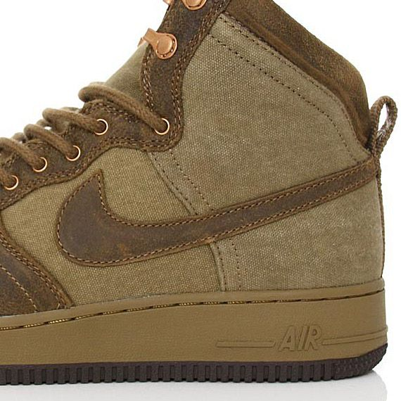 low priced cfb96 5c38d ... Nike Air Force 1 Hi DCN Military Boots – Raw Umber . ...