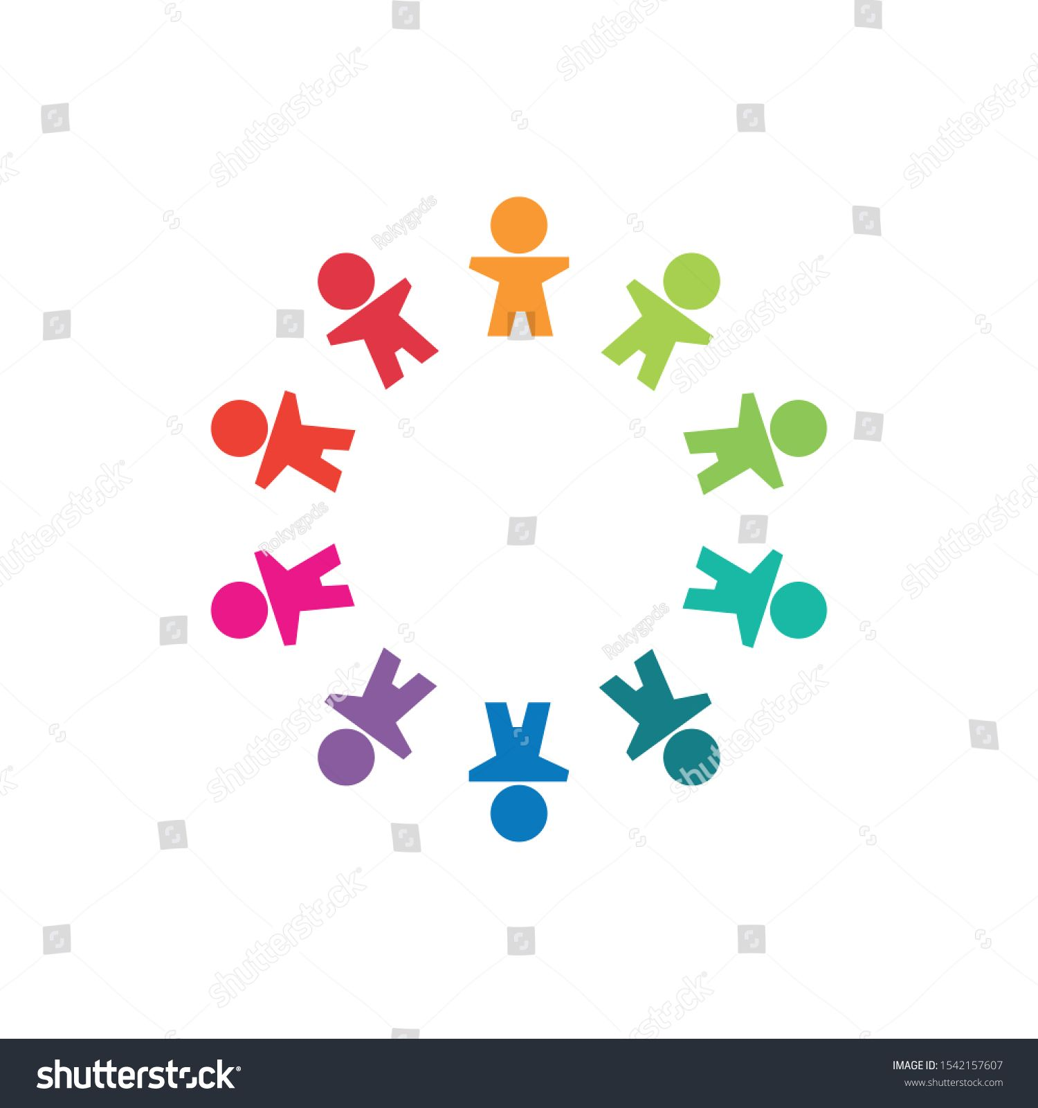 MultiEthnic Group of People Community Abstract Connection People  Vector