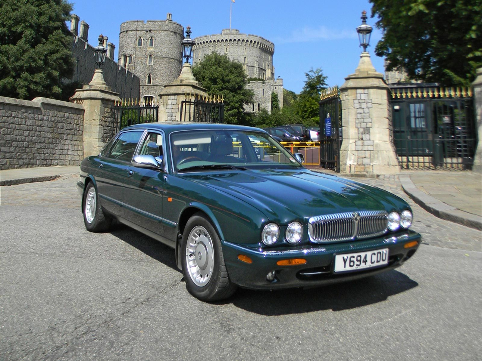 Fancy a Jag? Fancy a Jag that was owned by a Celeb?Then this car does not come with a better pedigree..The Queen's Daimler Super V8 for sale at auction......motormouthuk.com