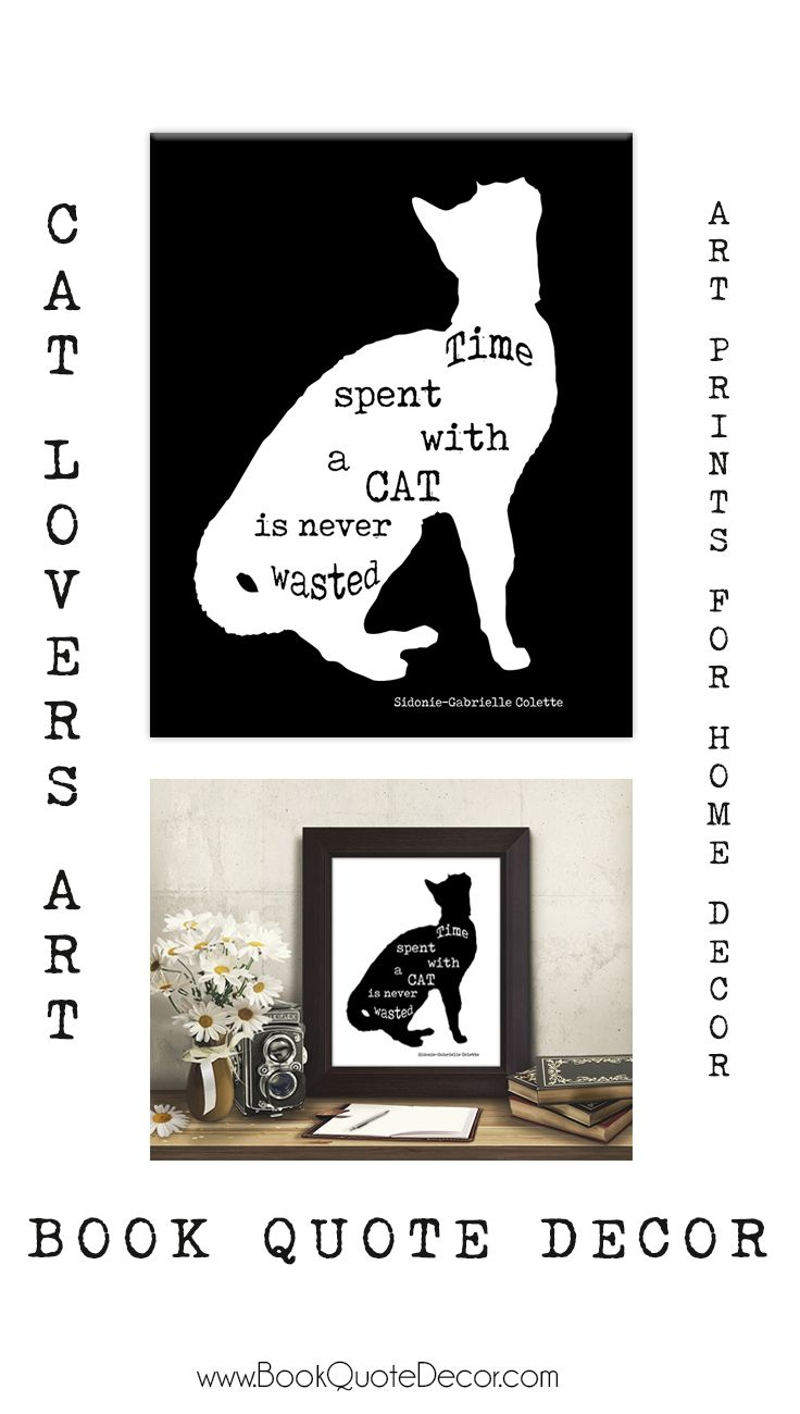 Black and white cat quote print cat lovers gifts click thru to see