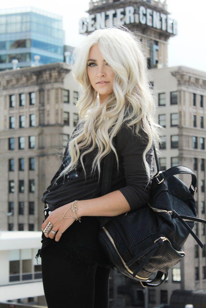 Cara Loren Cara Loren White Blonde Hair And White Blonde