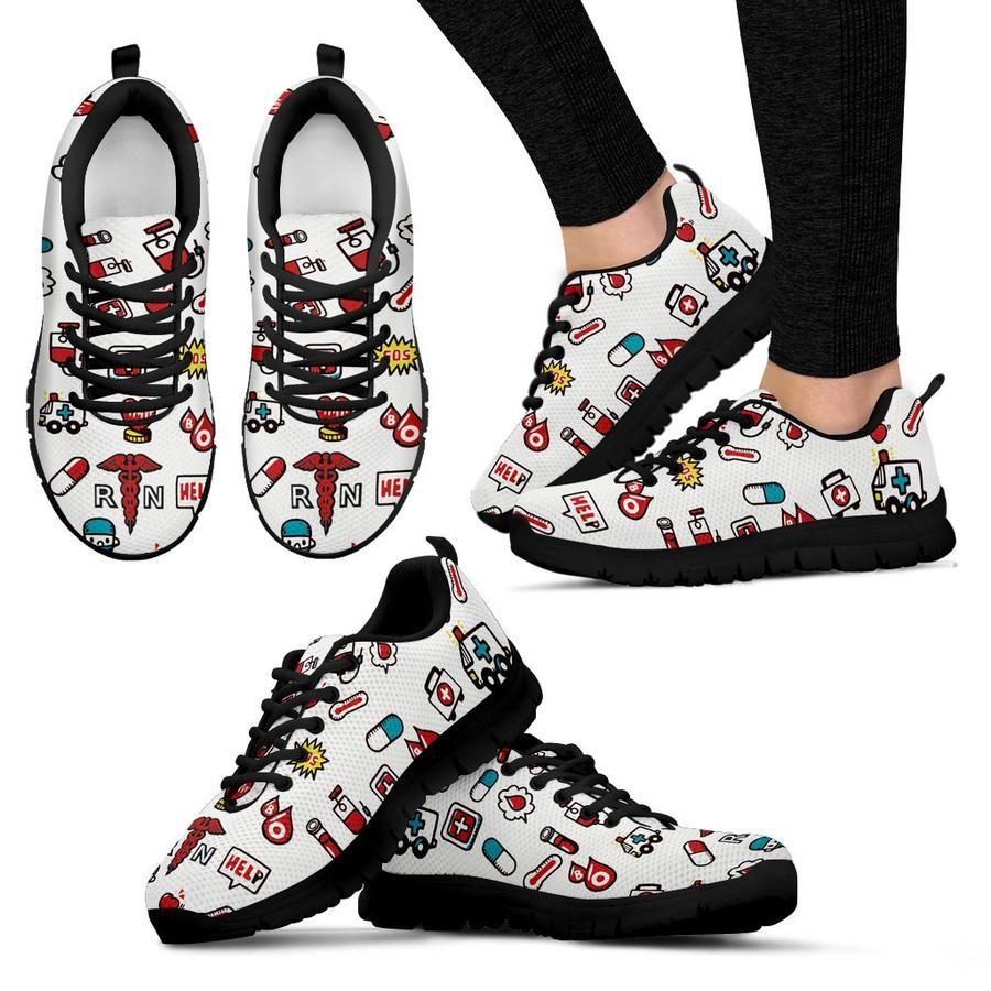 ac564bce3be41 Iconic Nurse Womens Sneaker Black Black - Need Those Sneakers