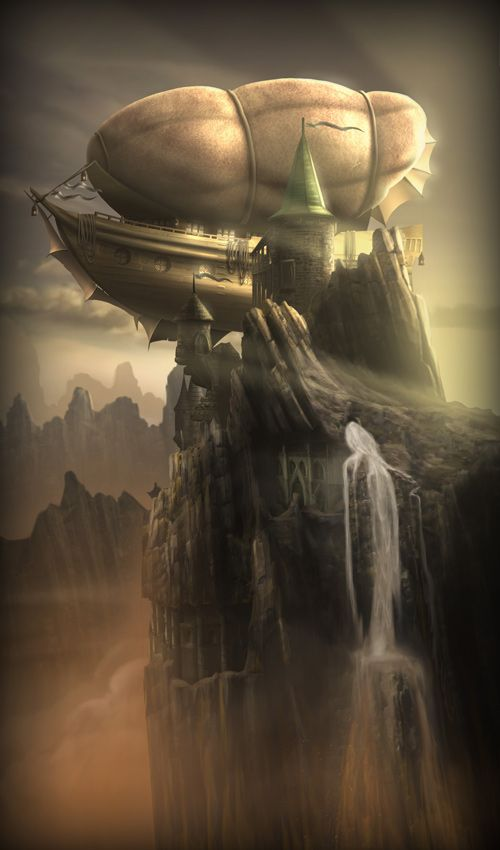 Airship Dock by ~Grimdar
