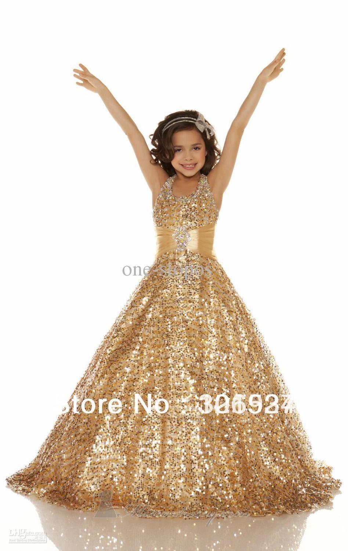 64d1222cd vestido de fiesta con lentejuelas color oro