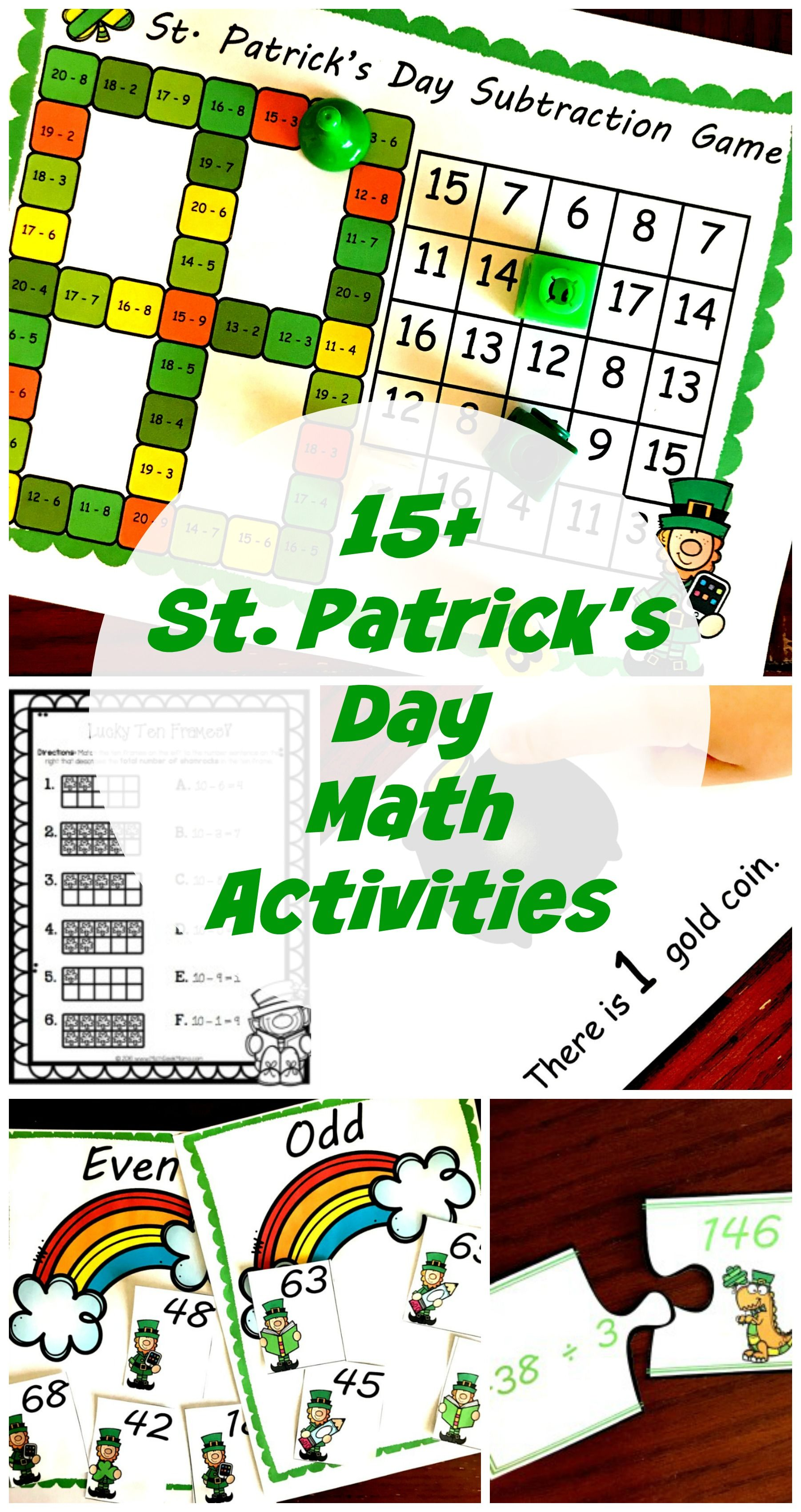 15 Exciting Colorful And Engaging St Patrick S Day Math
