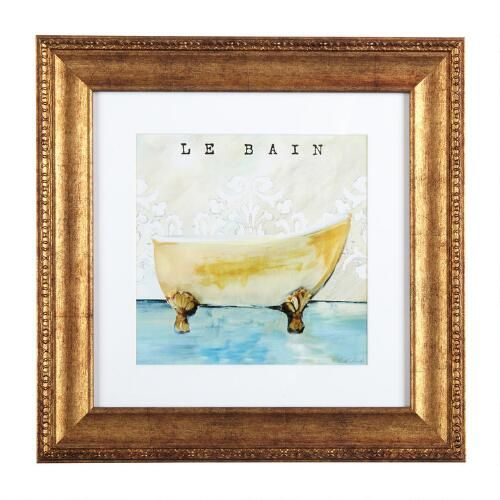 """One of my favorite discoveries at ChristmasTreeShops.com: 12"""" """"Le Bain"""" Framed Wall Art   Framed ..."""