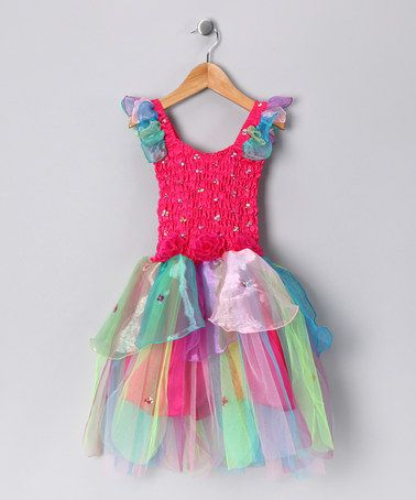 Take a look at this Fuchsia Rainbow Abigail Dress - Toddler & Girls by Fairy Dreams on #zulily today!
