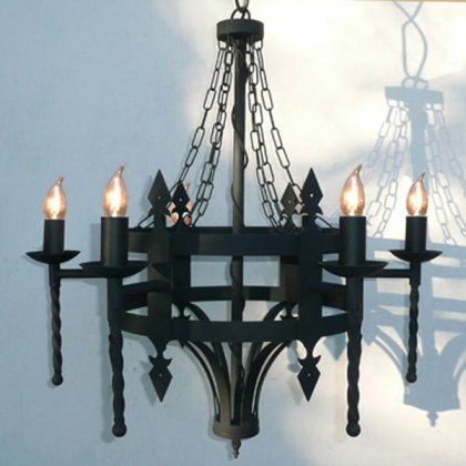 Tintagel Medieval Chandelier 6 Light Wrought Iron Chandeliers