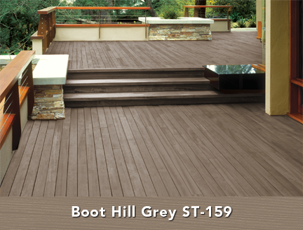 behr semi transparent wood stain in boot hill grey deck ideas