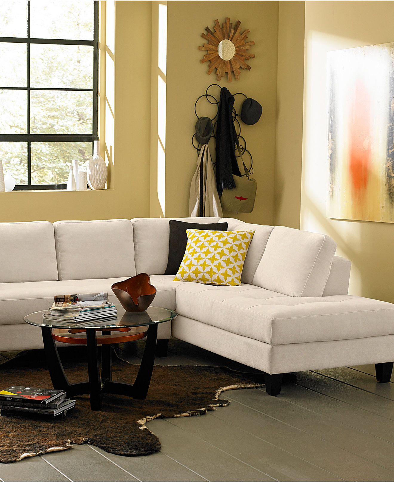 Rylee Fabric Sectional Sofa Living Room Furniture Furniture