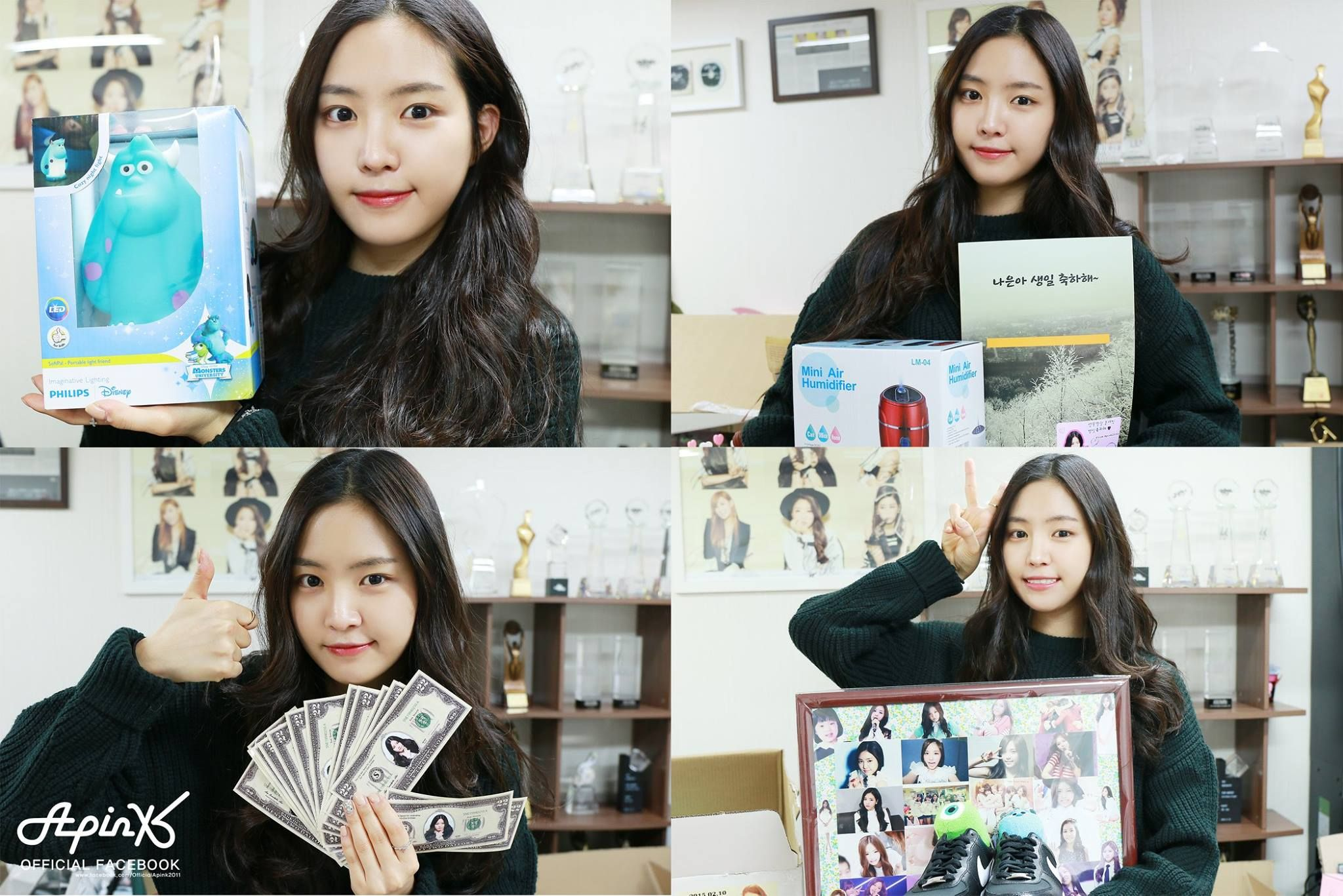 APink NaEun Reveals Birthday Gifts Sent From Fans With Fake Money