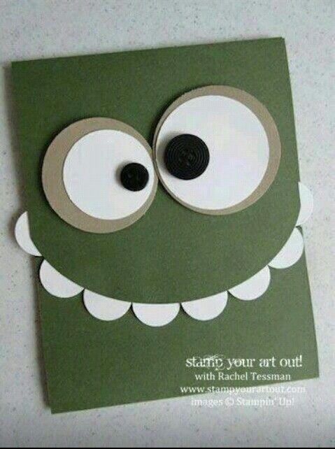 Einladung Kindergeburtstag · Monster Card