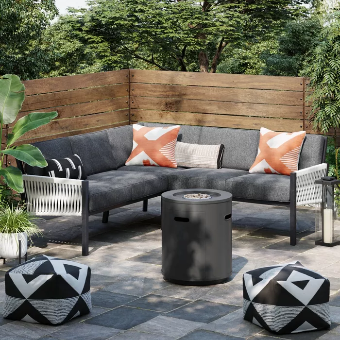Lunding 3pc Sectional Fire Patio Conversation Set Charcoal Project 62 Target In 2020 Conversation Set Patio Patio Sectional Outdoor Furniture Sets