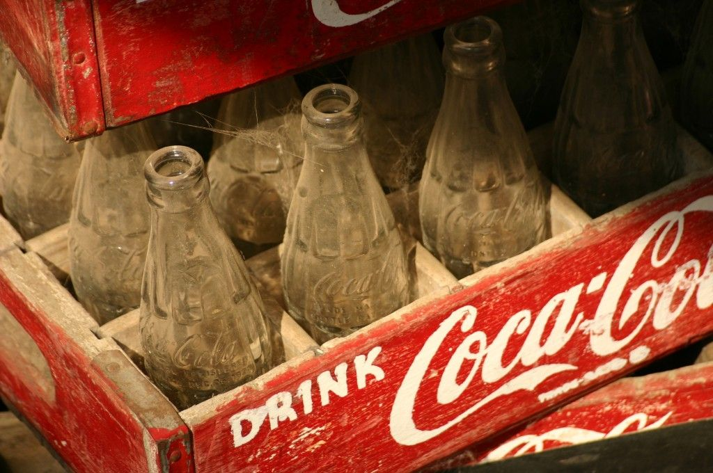 Coca Cola Bottles -Antiques from Coca Cola are enduringly popular.