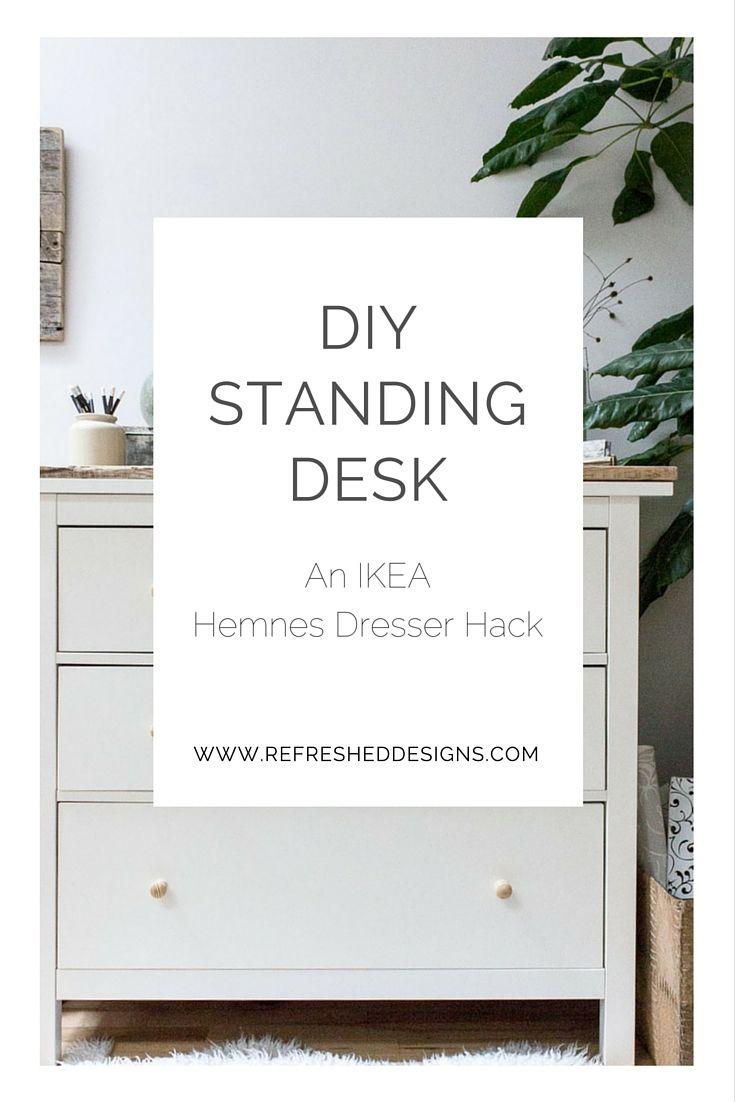 Diy Standing Desk Ikea Hemnes Dresser Hack