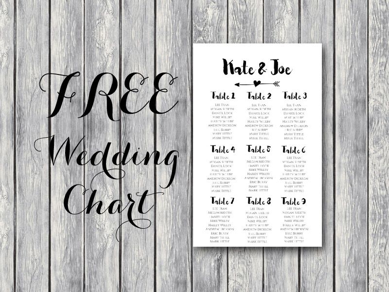 Free Wedding Seating Chart Printable Template Editable