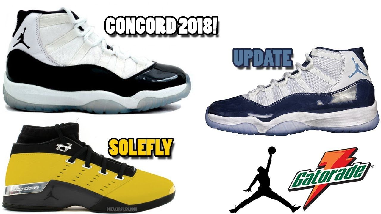 AIR JORDAN 11 CONCORD RELEASING 2018  JORDAN 11 MIDNIGHT NAVY UPDATE ... c8e9d5dca
