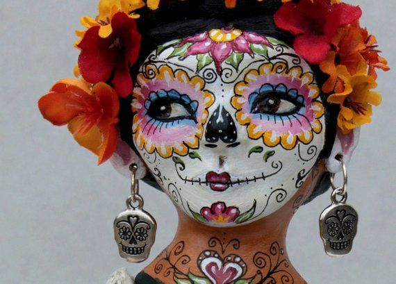 Art Print/Day of the Dead Catrina doll/face painting/ sugar skull/ photography