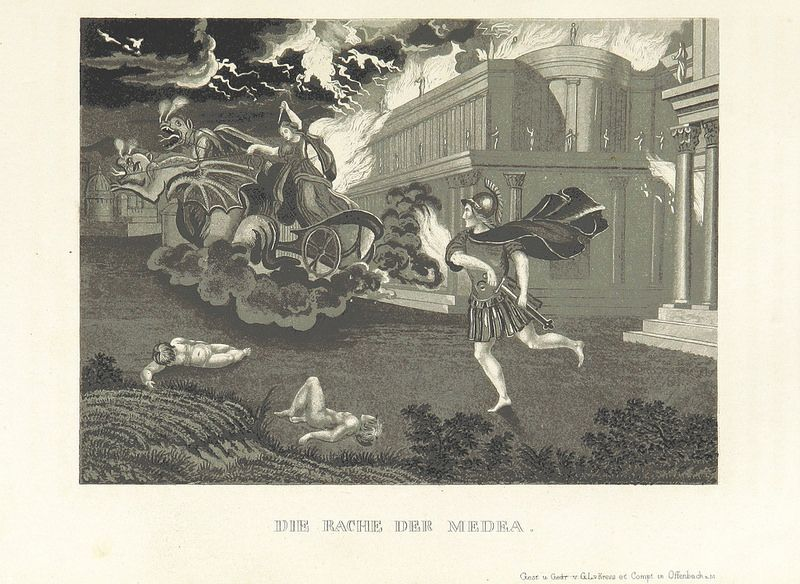 "Illustrations from ""The World Theater, or The Universal World History From Creation To The Year 1840, etc"" by C Strahlheim, 1834-41 - The Revenge Of The Medea"