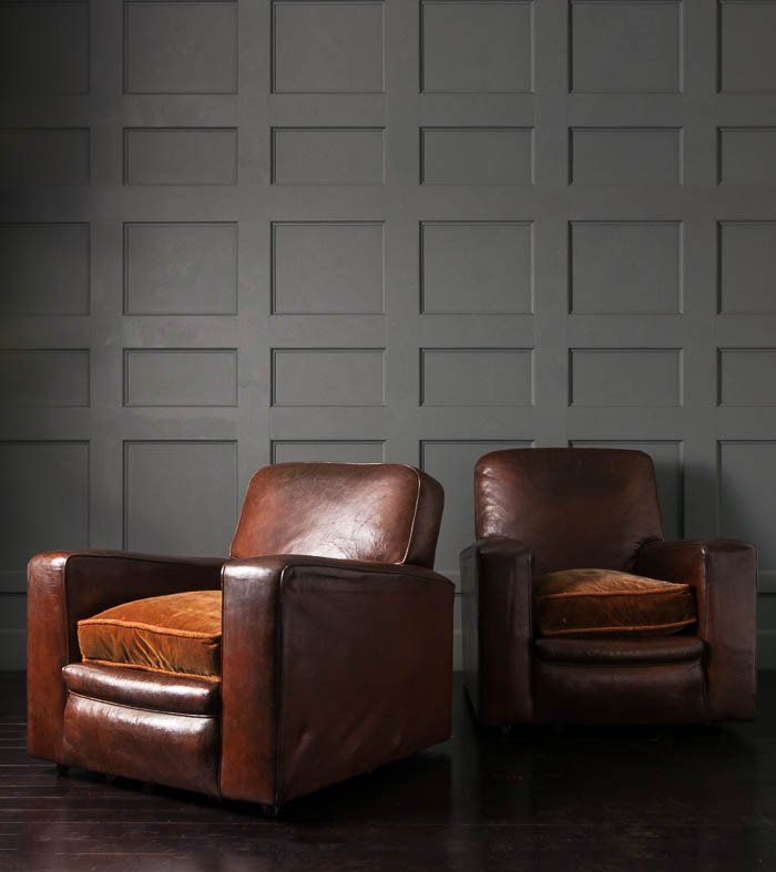 Fantastic Pair Of French Leather Lounge Chairs 1920S Furniture In Ocoug Best Dining Table And Chair Ideas Images Ocougorg