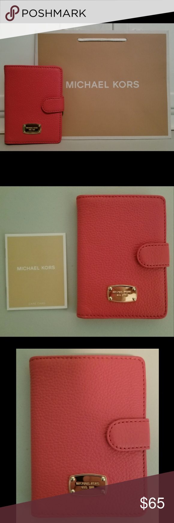 b2a36195dfa NWT Michael Kors Leather Passport Case BRAND NEW WITH TAGS 100% AUTHENTIC  MICHAEL KORS