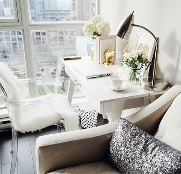 kleines wohnzimmer einrichten- wand aus glas Berlin Apartment - Wohnzimmer Einrichten Grau